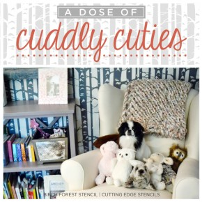A Dose of Cuddly Cuties in Stenciled Surroundings