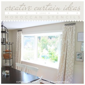 Creative Curtain Ideas Using Moroccan Stencils
