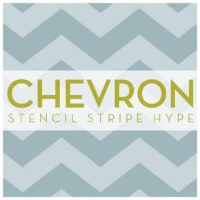Feeling the Chevron Stencil Stripe Hype?