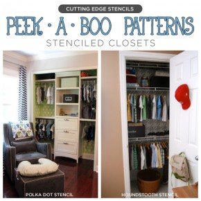 Stencil a Closet! Add some patterned fun to the interior of your closet with Cutting Edge Stencils! www.cuttingedgestencils.com