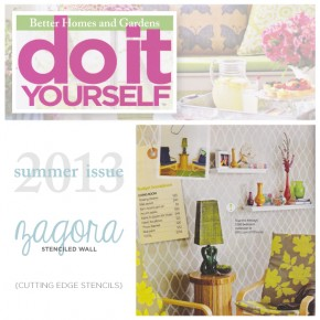 Do It Yourself Magazine Features Cutting Edge Stencils