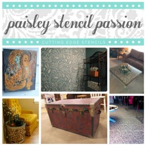 Stunning home decor ideas using the Paisley Stencil from Cutting Edge STencils http://www.cuttingedgestencils.com/paisley-allover-stencil.html