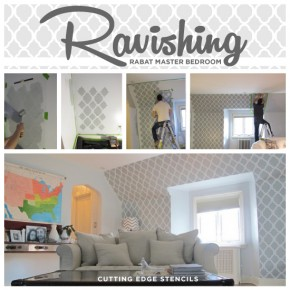A Ravishing Rabat Stenciled Master Bedroom
