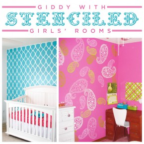Two adorable stenciled little girls rooms using Cutting Edge Stencils to give them the WOW factor! www.cuttingedgestencils.com