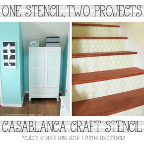 See how you can use one reusable craft stencil for many projects in your home! www.cuttingedgestencils.com