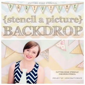 Party Time! Stenciling A Picture Backdrop