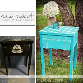 Sew Sweet: Stenciled Sewing Tables