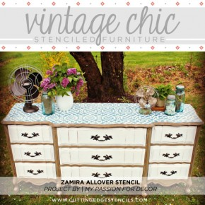Vintage Chic Stenciled Furniture