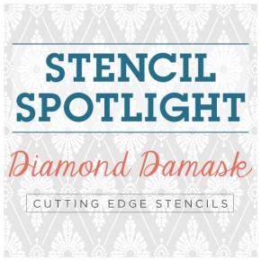 Stencil Spotlight: Diamond Damask Stencil