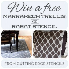 Win a free Marrakech Trellis or Rabat Stencil from Cutting Edge Stencils! http://www.cuttingedgestencils.com/moroccan-stencils.html #CEStencilgiveaway