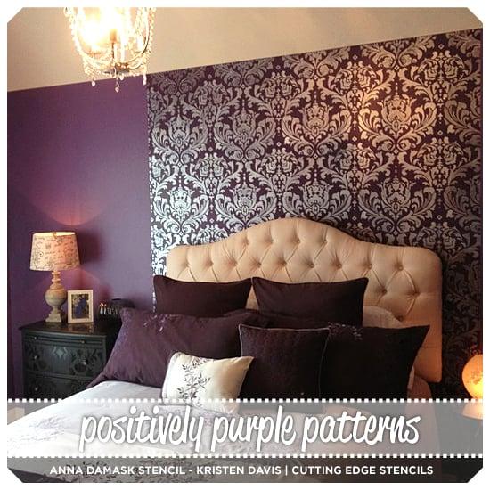 Positively Purple Patterns Stencil Stories