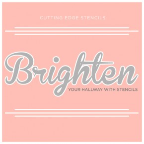Brighten Your Hallway With Stencils