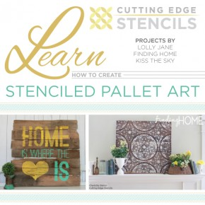 Learn how to stencil pallet or wood art using stencils from Cutting Edge Stencils! http://www.cuttingedgestencils.com/wall-quotes-stencils-quotes-for-walls.html