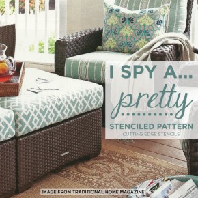 I Spy A Pretty Stenciled Pattern