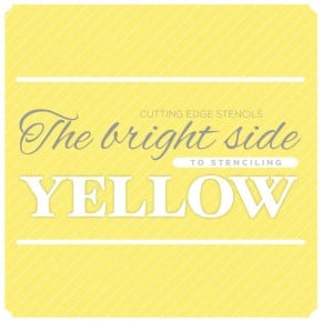 Yellow stenciled spaces and diy craft ideas to add a little sunshine to your home decor! http://www.cuttingedgestencils.com/wall-stencils-stencil-designs.html
