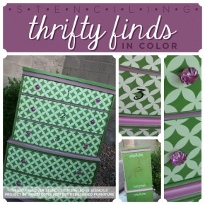Stenciling furniture in bold colors to create a unique fun look! http://www.cuttingedgestencils.com/wall-stencils-stencil-designs.html