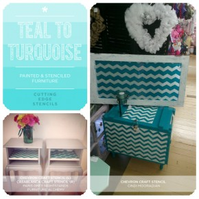 Turquoise to Teal: Painted & Stenciled Furniture
