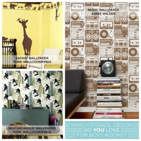 Which Stencil Design Do YOU Love for Boys Rooms?