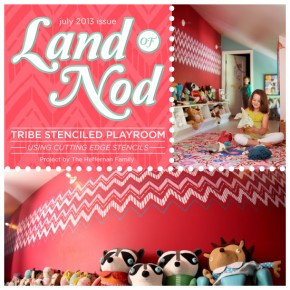 Land of the Nod: Tribe Stenciled Playroom
