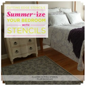 Stencils can add stylish summer appeal to your bedroom space! http://www.cuttingedgestencils.com/stencils-flower-stencil.html