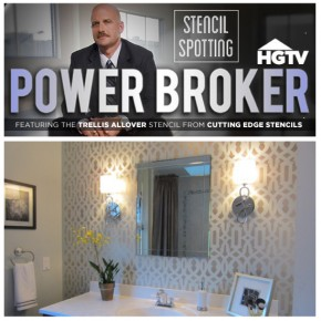HGTV's Power Broker Features The Trellis Allover Stencil