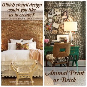 Which Stencil Design Would You Prefer Us to Design: Leopard and Brick