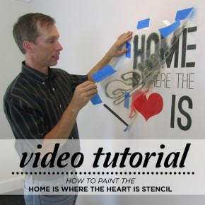 Learn how to stencil the Home Is Where The Heart Is wall quote stencil using this video tutorial and step by step guide! http://youtu.be/5jIBw5_79Ls