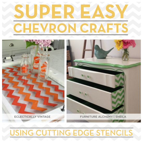 cutting edge crafts seven easy chevron crafts stencil stories stencil 1831