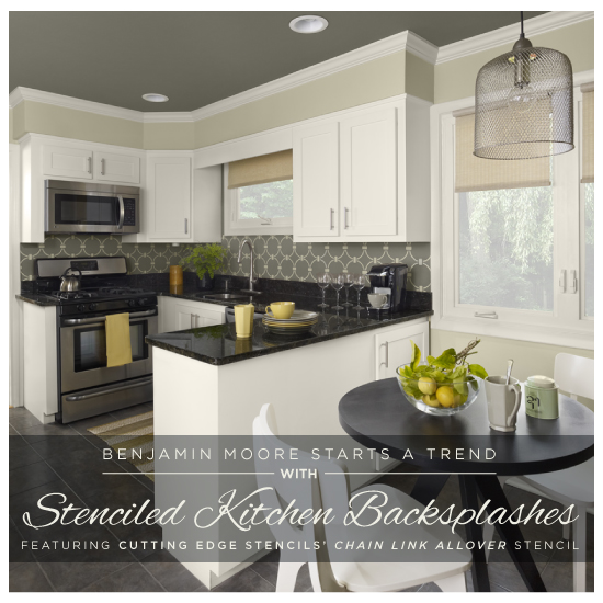 Benjamin Moore Starts A Trend With Stenciled Kitchen Backsplashes   Stencil  Stories Stencil Stories