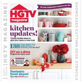 Stencil projects using Cutting Edge Stencils found in HGTV Magazine's September issue!http://www.cuttingedgestencils.com/herringbone-stencil-pattern.html