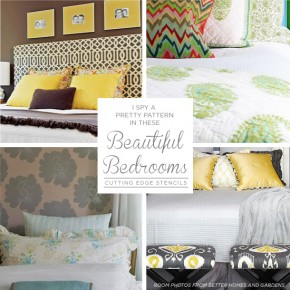 I Spy A Pretty Pattern In These Beautiful Bedrooms!