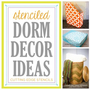 Six Stenciled Dorm Decor Projects