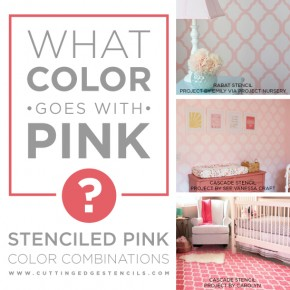 What Color Goes With Pink? Stenciled Pink Color Combinations