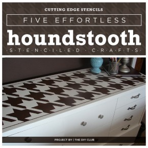 Cutting Edge Stencils shares five simple Houndstooth stenciled home decor projects! http://www.cuttingedgestencils.com/wall_stencil_houndstooth.html