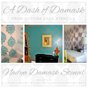 A Dash of Damask: Nadya Damask Stencil