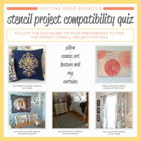 Cutting Edge Stencils shares a fun diy stenciled project compatibility quiz! http://www.cuttingedgestencils.com/wall-stencils-stencil-designs.html