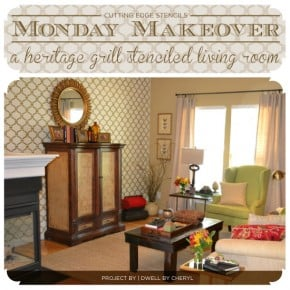 Monday Makeover: A Heritage Grill Stenciled Living Room
