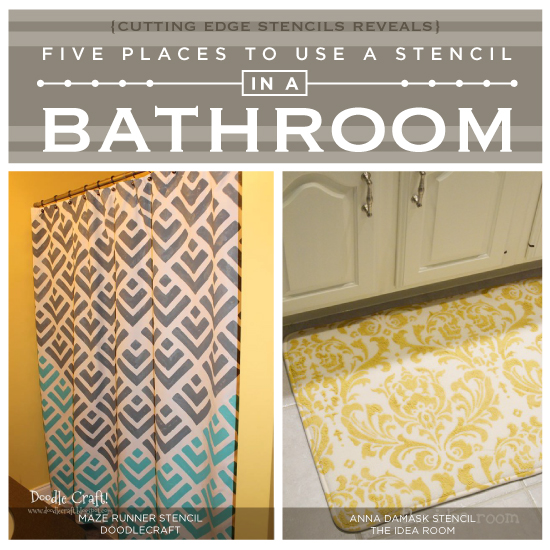 Five Places to Use a Stencil In A Bathroom Stencil Stories