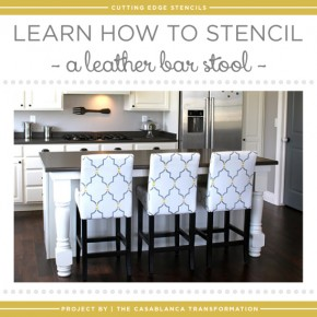 Learn How to Stencil A Leather Bar Stool