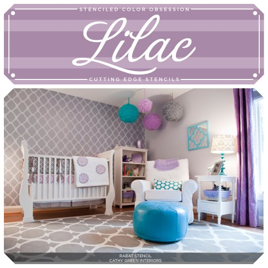 Stenciled Color Obsession: Lilac