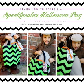 Learn How to Stencil a Spooktacular Halloween Bag