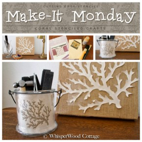 Make It Monday: Coral Stenciled Crafts