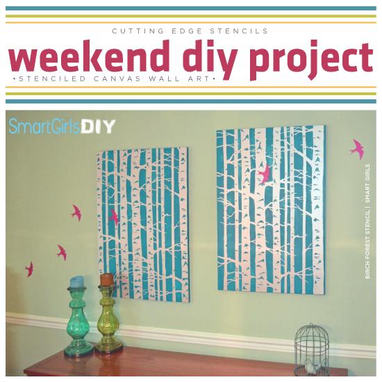 Weekend DIY Project: Stenciled Canvas Wall Art   Stencil Stories Stencil  Stories