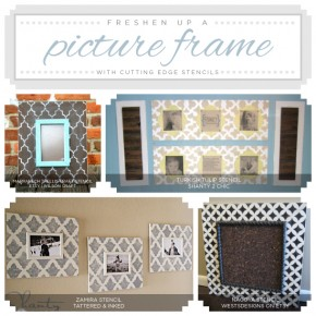 Stenciling old picture frames is an easy DIY home decor project. http://www.cuttingedgestencils.com/wall-stencils-stencil-designs.html