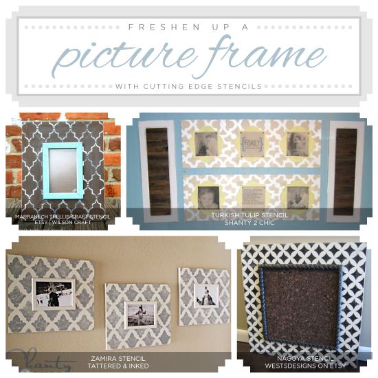 Freshen Up A Picture Frame With Stencils
