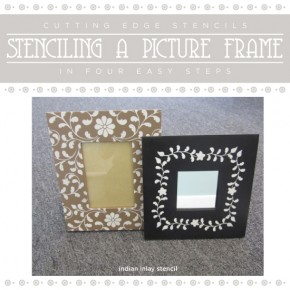 Stenciling A Picture Frame in Four Easy Steps