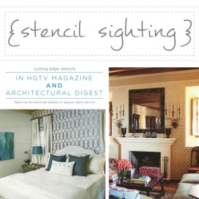 Stencil Sighting in HGTV Magazine and Architectural Digest