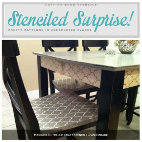 Cutting Edge Stencils shares stenciled craft projects to spruce up your home decor! http://www.cuttingedgestencils.com/craft-furniture-stencils.html