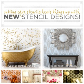 Cutting Edge Stencils introduces NEW wall stencil designs. http://www.cuttingedgestencils.com/wall-stencils-stencil-designs.html
