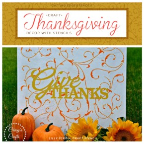 Craft Thanksgiving Decor With Stencils